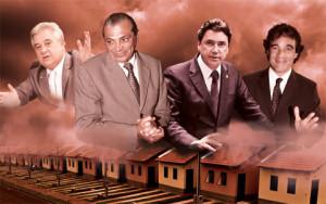 Os deputados Augusto Coutinho, Inocêncio Oliveira e os senadores Wilder Morais e Lobão Filho (da esq. para a dir.) têm sido favorecidos pelo programa Minha Casa, Minha Vida