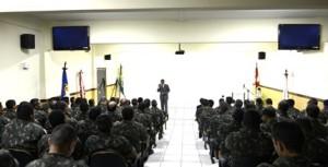 Presidente do TRE profere palestra para militares do Exército