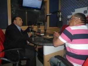 Madeira no estúdio da Rádio Capital