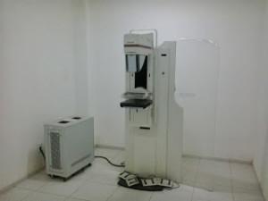 Um dos aparelhos de mamografia