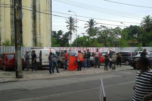 agentes em protestos