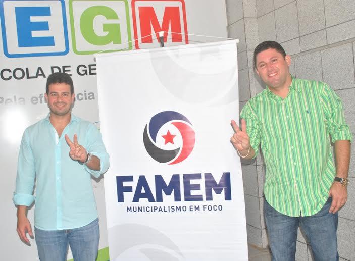 Gil, reeleito presidente e Hernando Macedo, eleito vice-presidente