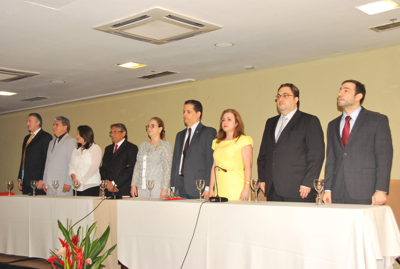 Representantes dos órgãos envolvidos no projeto