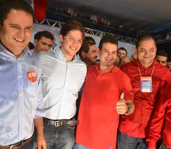 Prefeitos Edivaldo Jr., Léo Coutinho, de Caxias, Gil Cutrim e o deputado federal Weverton Rocha