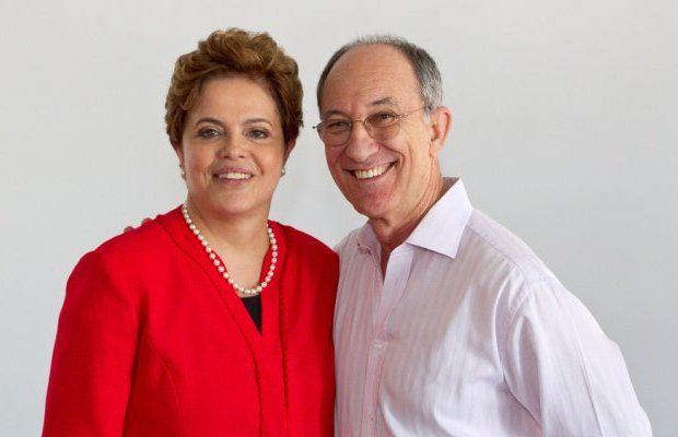 Dilma e Rui Falcão